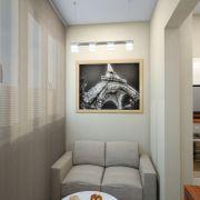 Проект двухкомнатной квартиры в Москве 57 кв. м.  Балкон