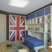 Проект двухкомнатной квартиры в Москве 57 кв. м.  Детская комната