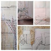Рисунок интерьеров Келли Хоппен: секреты стиля, элементы дизайна и техники изображения