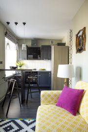 Дизайн маленькой квартиры: яркий интерьер