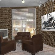 Роман Сазонов – дизайн-проект офиса «Harley Davidson»