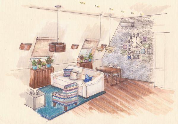 Проект гостиной. Ирина Риф