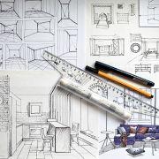 Интерьерный скетч маркерами. Подача проектов от руки для дизайнеров