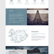 Проект Александра Медведева «Landing page – Iceland»
